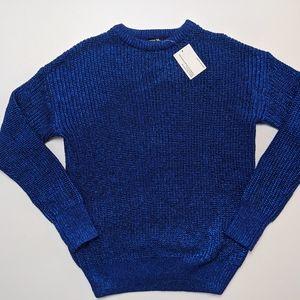 NWT American Apparel Sparkly Metallic Blue Sweater